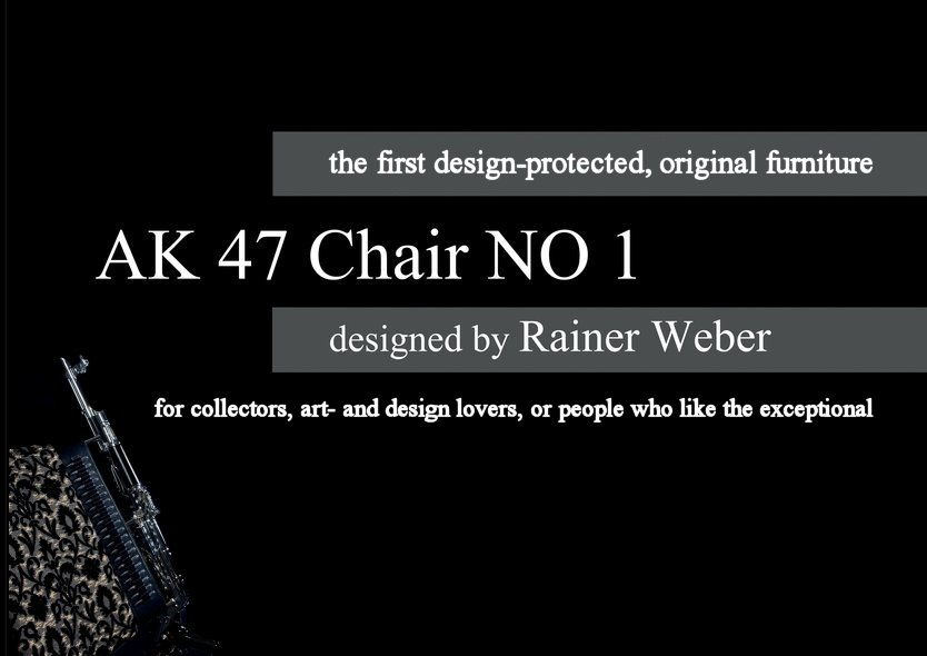 This picture shows page 1 of Rainer Weber's AK 47 Chair.
